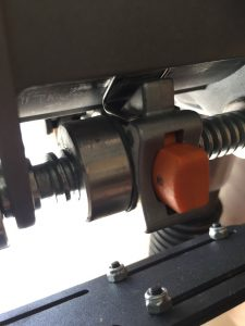 Router Modification: Added a bushing to the clip on the router's z-axis control to eliminate slop.